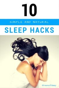Do you have trouble falling asleep? What are some natural ideas to promote #sleep easily? Here's 10 awesome simple sleeping hacks you can use to help combat #insomnia.