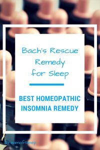 The Best Homeopathic Sleep Aid is Bach Rescue Remedy Products