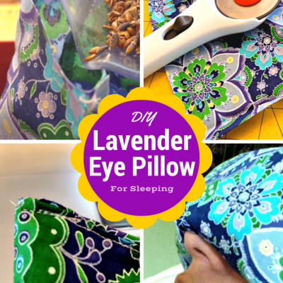 DIY Lavender Eye Pillow for Sleeping