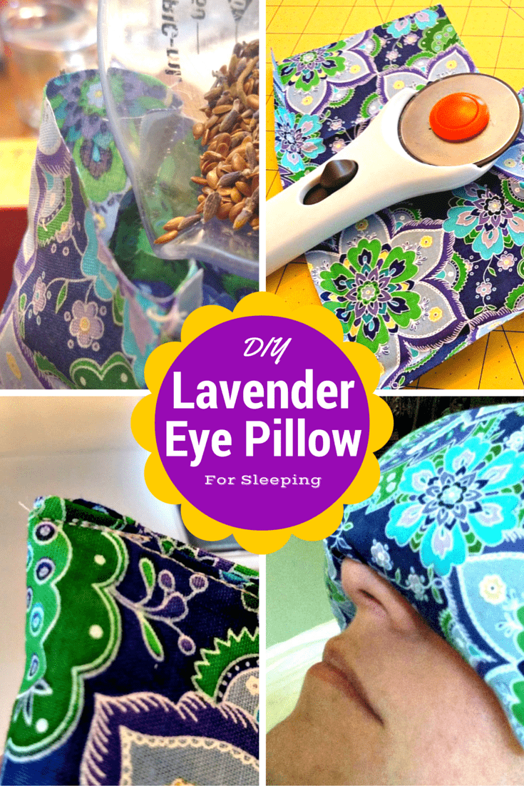 How to Make a DIY Lavender Eye Pillow for Sleeping