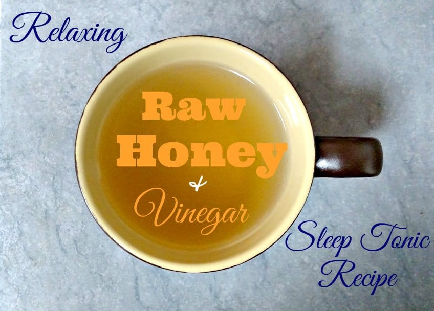 Does Raw Honey Help you Sleep? It can, especially if you take it with apple cider vinegar.