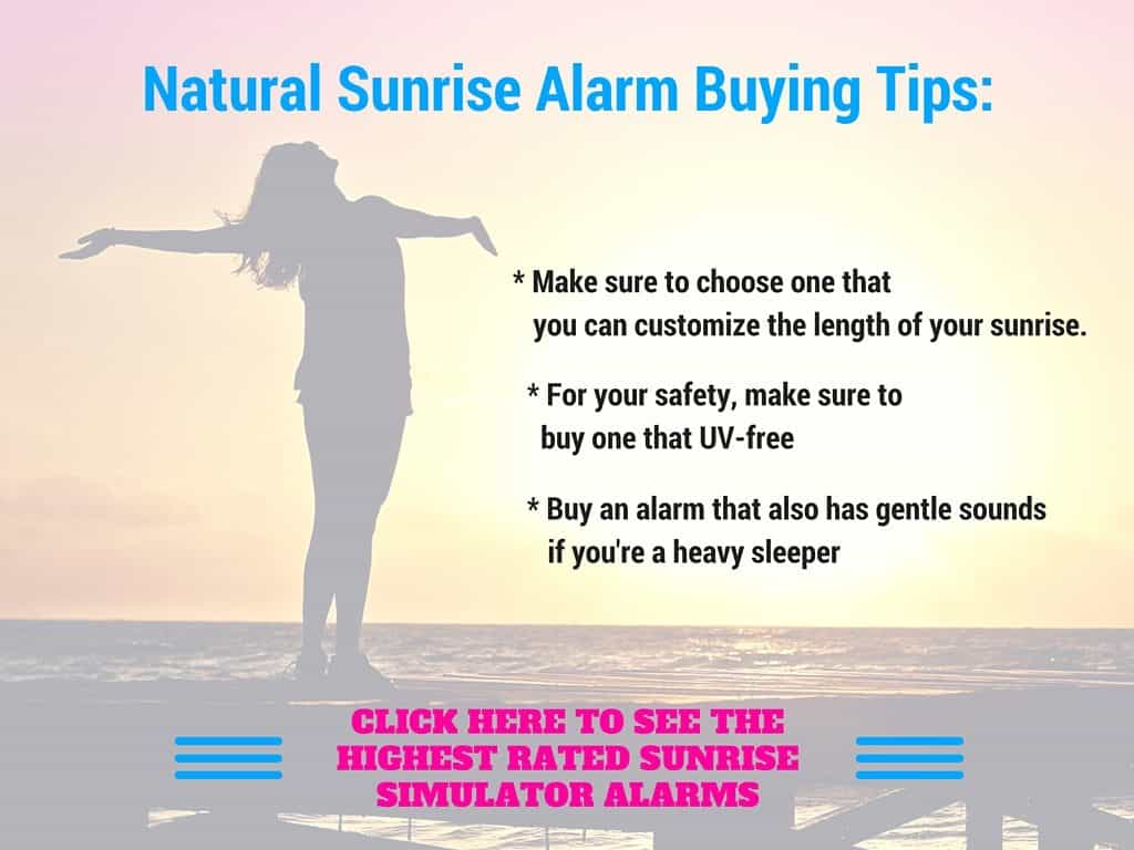 simulated sunrise alarm clocks