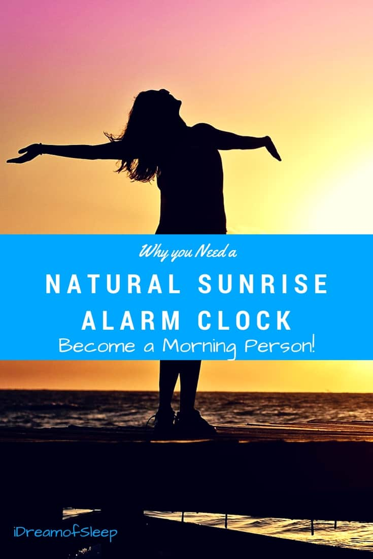Traditional alarm clocks trigger a fight or flight response. Become a morning person with a natural sunrise alarm clock.