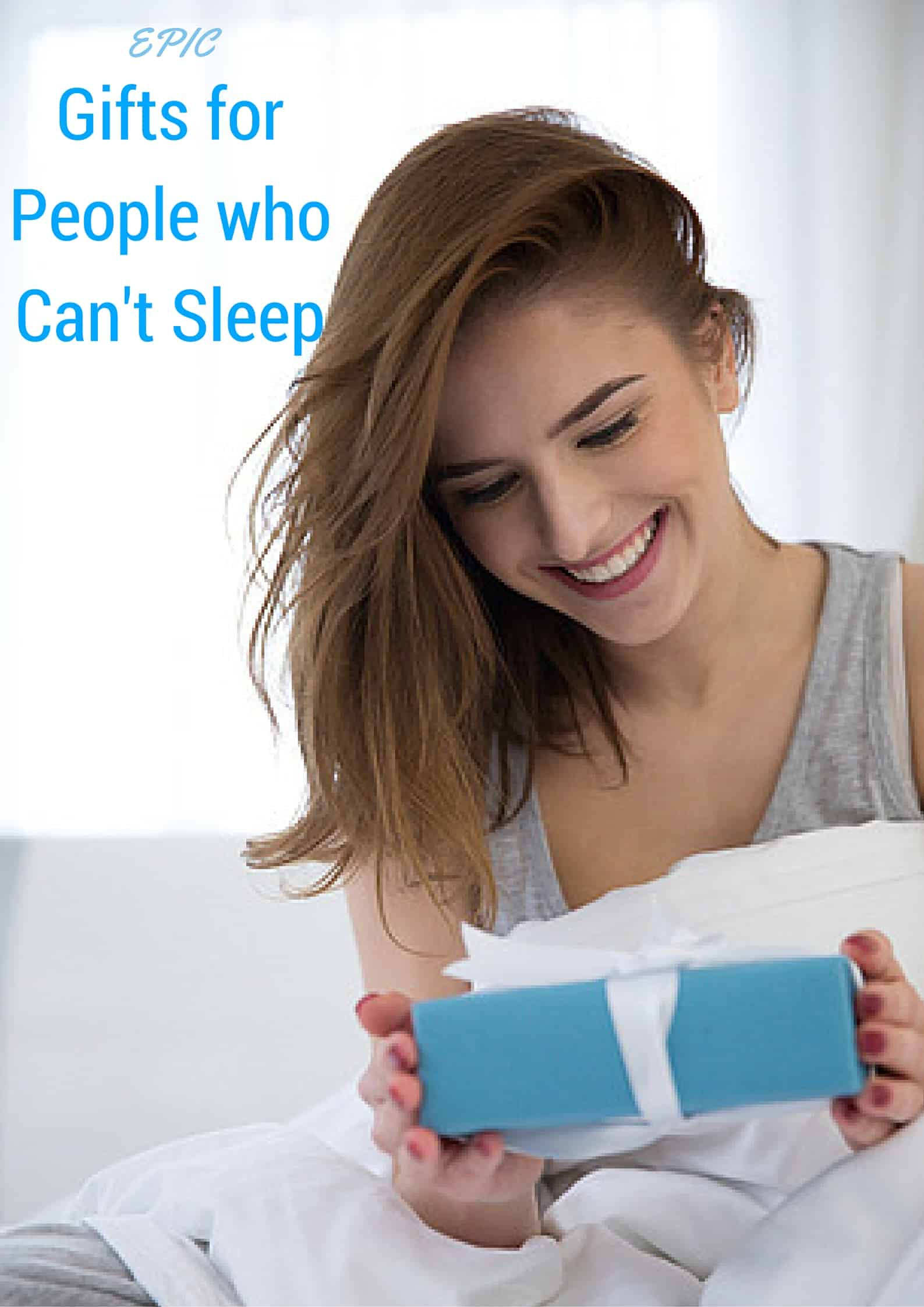 Do you have someone on your gift list who's an insomniac or maybe just loves to sleep? This epic list is chock full of gift ideas for people who can't sleep. (or are just a sleep diva) You know you want some awesome sleep gifts for sweet dreams. #sleep #giftguide #insomnia