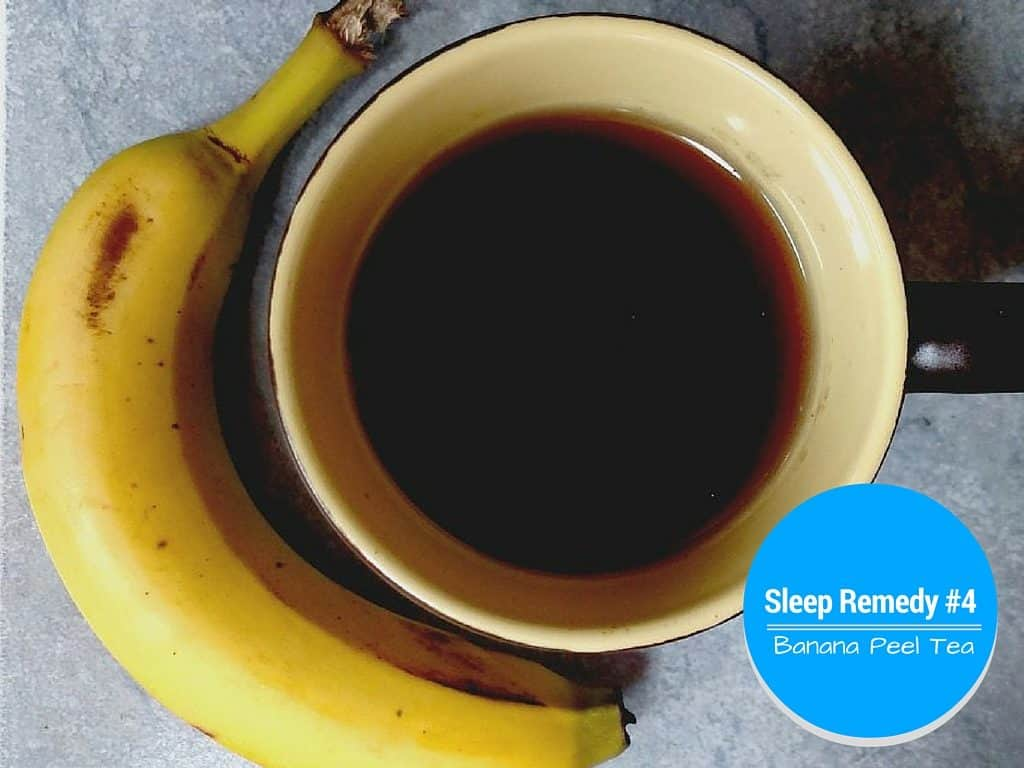 banana peel tea for sleep