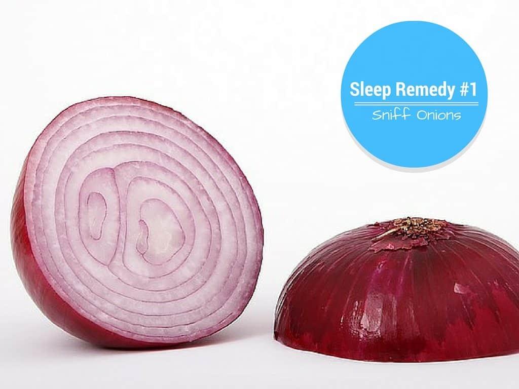 smell onion for sleep