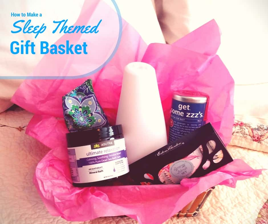 How to Make a Sleep Themed Gift Basket