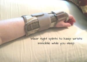 To help easy my pain I use a carpal tunnel pillow and get in the best sleeping position for carpal tunnel syndrome.