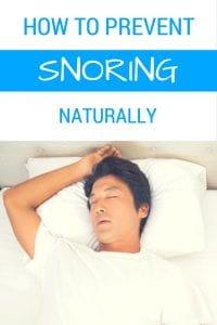How to Prevent Snoring Naturally