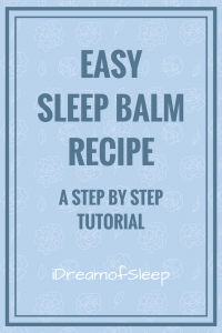 How to make your own DIY Badger Sleep balm with essential oils.