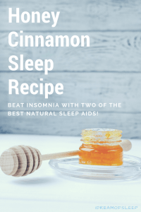Try this natural honey and cinnamon sleep aid to help insomnia. It's one of my favorite sleep remedies! Drink this easy DIY recipe at night before bed so you'll have sweet dreams!