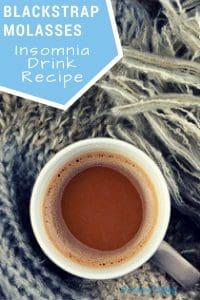 blackstrap molasses for sleep insomnia drink recipe