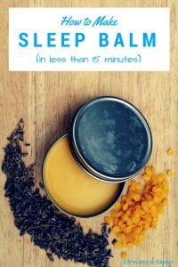 how to make sleep balm