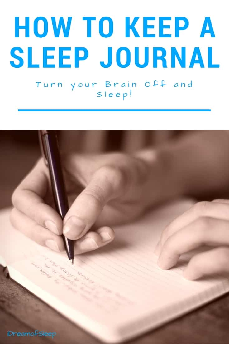 If your insomnia is caused by an overactive, keeping a sleep journal is a good way to switch your brain off and sleep. Write in your diary about what's keeping you up, plus track your sleep statistics.