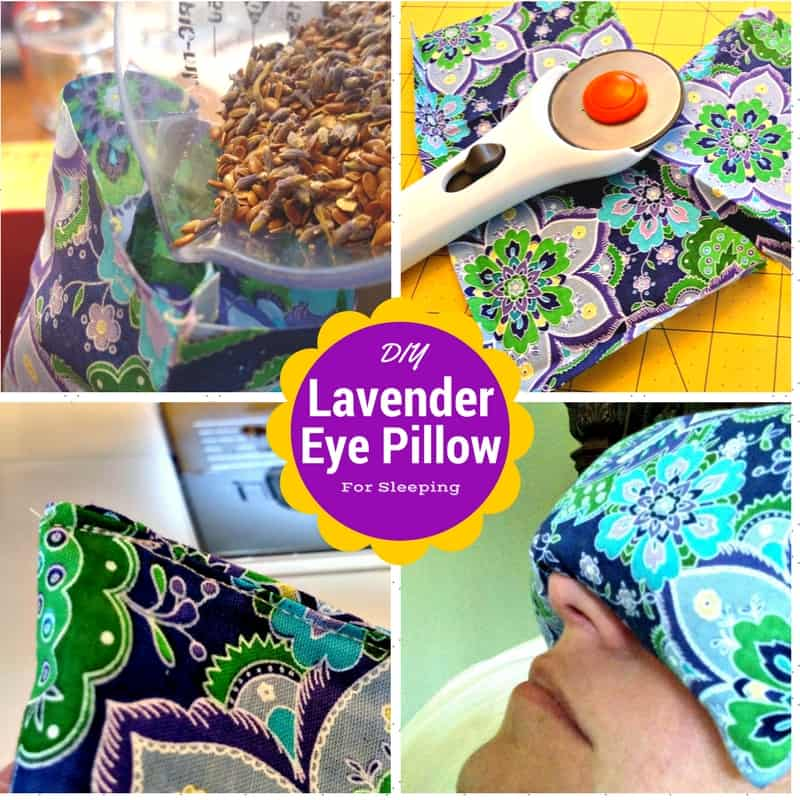 HOW TO MAKE A LAVENDER EYE PILLOW FOR SLEEP