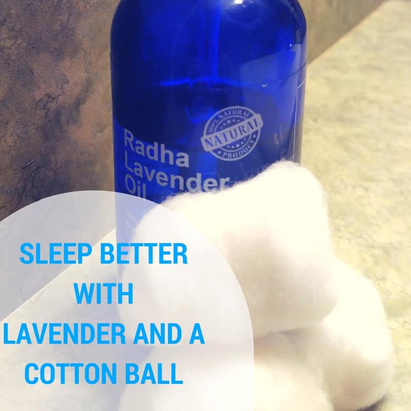 SLEEP BETTER WITH LAVENDER AND A COTTON BALL