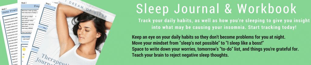 Sleep journal for tracking sleep and anxiety