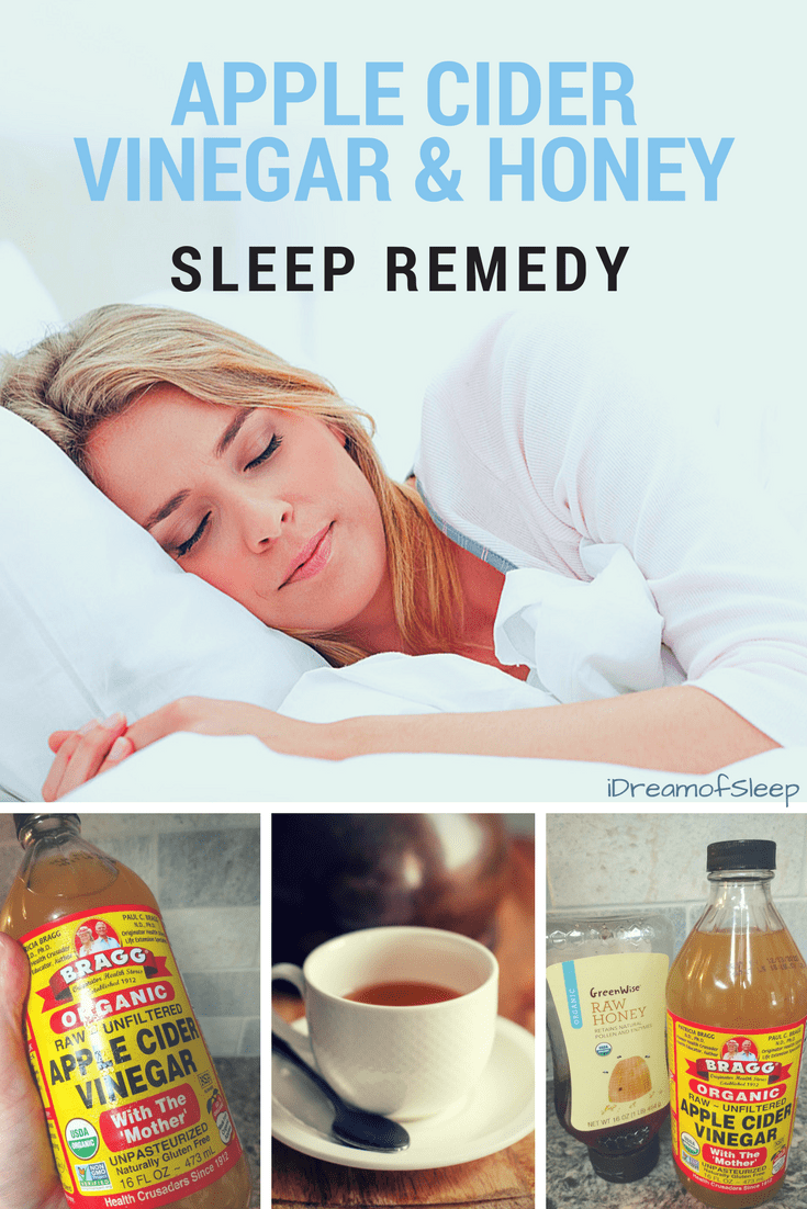 Drinking an apple cider vinegar and honey sleep tonic probably isn't even on your radar, but if you're wanting a natural insomnia remedy it should be. Honey and vinegar is a natural DIY #insomnia remedy, and this is a simple recipe to help you fall asleep. #sleeping  #naturalremedies #vinegar #honey