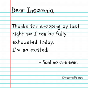 Funny dear insomnia sleep quote meme