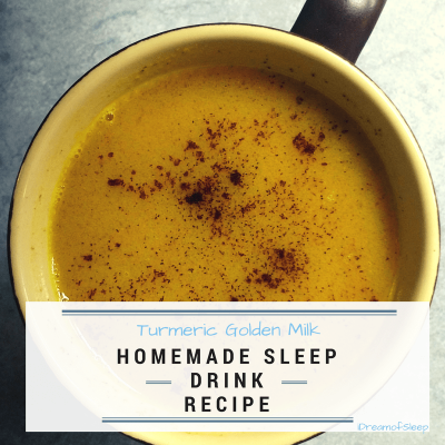 Turmeric homemade sleep aid drink recipe