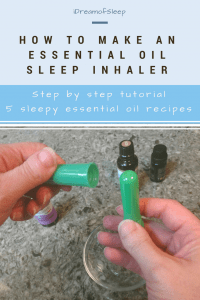 A simple sleep inhaler DIY and free essential oil recipes for insomnia