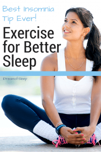 A simple tip to help insomnia at night is to exercise for better sleep