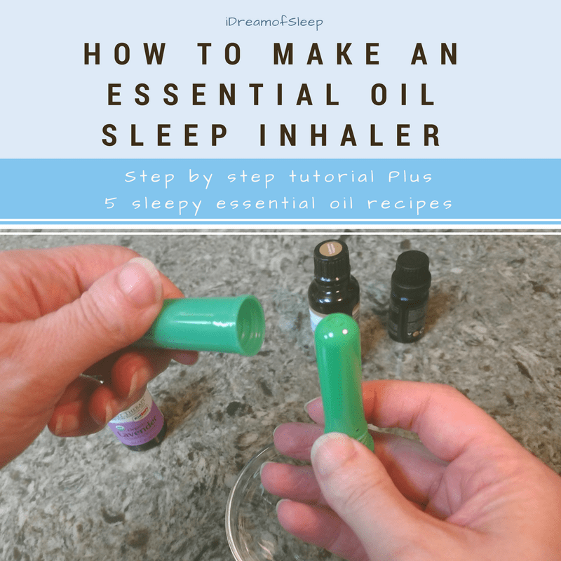 How to Make an Essential Oil Sleep Inhaler in Less than 5 minutes