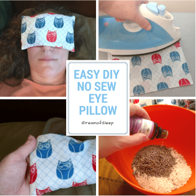Make a lavender essential oil rice eye pillow for sleeping