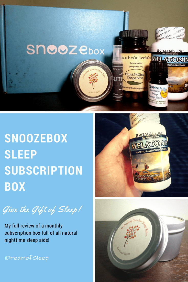 I admit, I'm a sucker for subscription boxes. And when I found a monthly sleep subscription box, I knew I had to try Snoozebox. It's chock full of all natural sleep products that promotes sweet dreams and relaxation. It's definitely the best sleepy gift idea for moms, dads or yourself! #insomnia #giftideas #sleepgiftset