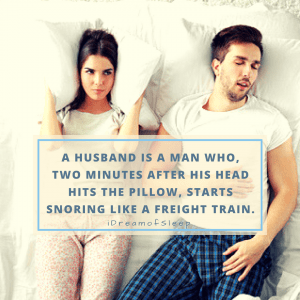 Snoring quotes and sayings about husbands whose wives will think is funny and true