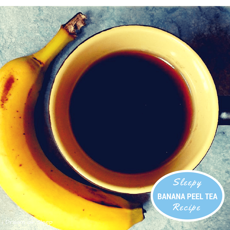 Banana Peel Tea Honey Sleep Remedy