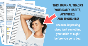 Sleep journal and diary to track daily habits and sleep anxiety